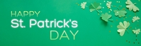Happy St. Patrick's Day Banner 横幅 2' × 6' template