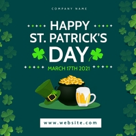 happy st. patrick's day banner instagram post template