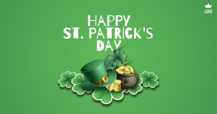 Happy St. Patrick's Day Facebook 共享图片 template