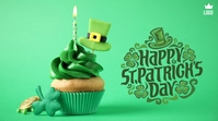 Happy St. Patrick's Day โพสต์บน Twitter template