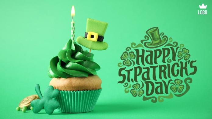 Happy St. Patrick's Day Twitter-bericht template