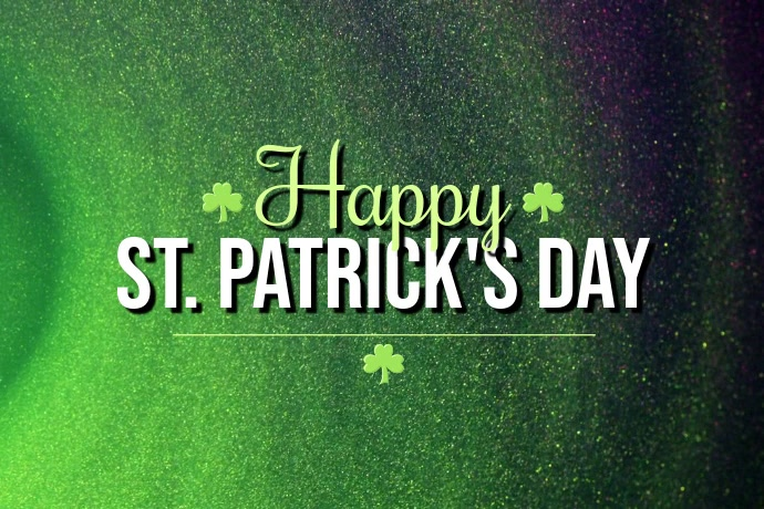 Happy St. Patrick's Day Poster template