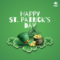 Happy St. Patrick's Day Instagram-Beitrag template