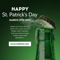 happy st. patrick's day generic banner creati Message Instagram template
