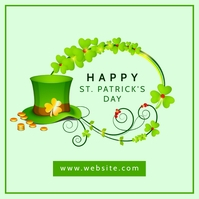 Happy st. patrick's day instagram post banner template