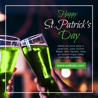 Happy st. Patrick's Day white and green color Instagram Post template