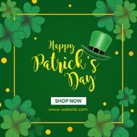 Happy st. Patricks day instagram post adverti Iphosti le-Instagram template