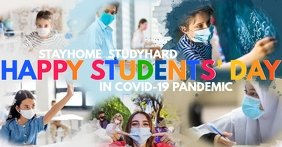 Happy Students' Day in Covid-19 Template Image partagée Facebook