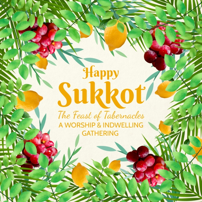 Happy Sukkot Feast Post Template