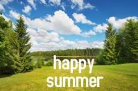 happy summer poster Iphosta template