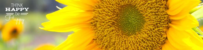 Happy Sun Flower Cartel de 2 × 8 pulg. template