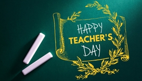 Happy Teacher's Day Blogkop template