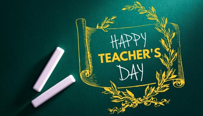 Happy Teacher's Day Koptekst blog template