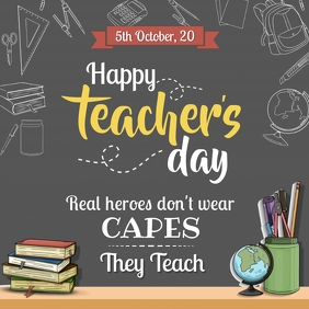 Happy Teacher's Day Instagram Post Template Instagram-opslag