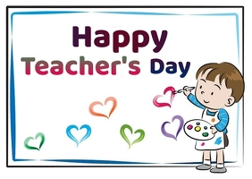 Teacher's Day wishes Message Postcard template