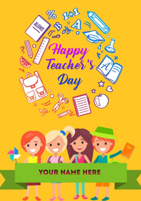 Teacher's Day wishes Template A4