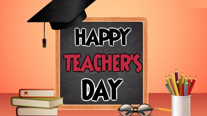 Teacher's Day wishes Wallpaper Digital na Display (16:9) template