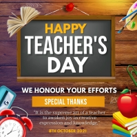 Happy teachers day Square (1:1) template