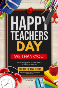 Happy teachers day Poster template