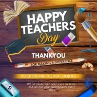 Happy Teachers day สี่เหลี่ยมจัตุรัส (1:1) template