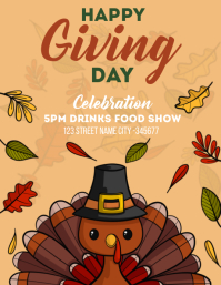 Happy Thanks giving day Flyer (format US Letter) template