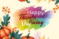 Happy Thanks Giving Day Banner 4' × 6' template