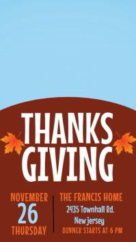 happy thanksgiving, thanksgiving dinner Instagram Story template