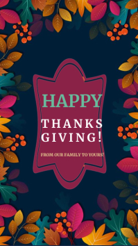 happy thanksgiving, thanksgiving greetings Instagram Story template