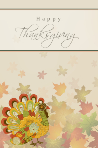 Happy Thanksgiving card cover