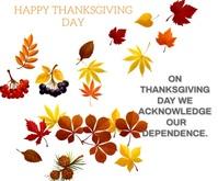 HAPPY THANKSGIVING DAY TEMPLATE Persegi Panjang Besar