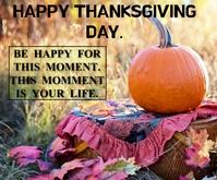 HAPPY THANKSGIVING DAY TEMPLATE Persegi Panjang Sedang