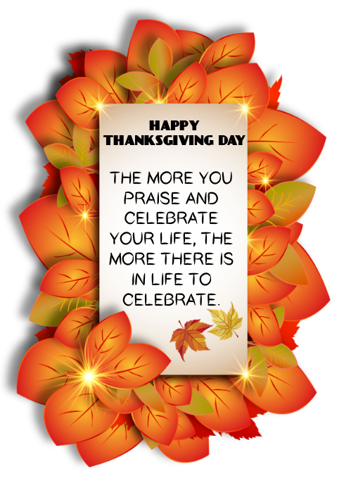 HAPPY THANKSGIVING DAY TEMPLATE A4