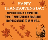 HAPPY THANKSGIVING DAY TEMPLATE Retângulo grande