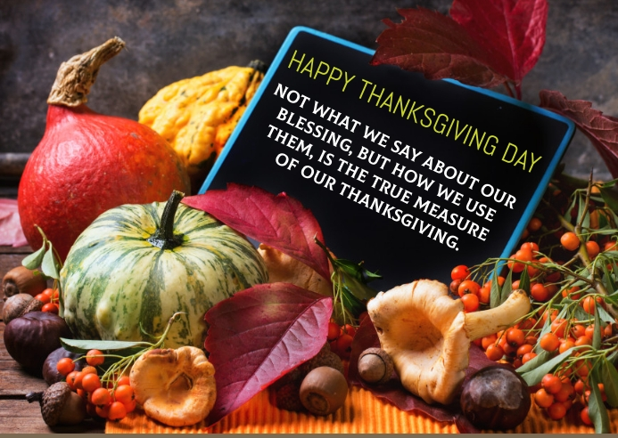 HAPPY THANKSGIVING DAY TEMPLATE A6