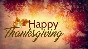 Happy Thanksgiving Digital Display (16:9) template