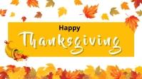 Happy Thanksgiving Digitale display (16:9) template