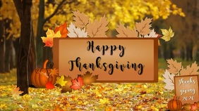 happy thanksgiving Tampilan Digital (16:9) template