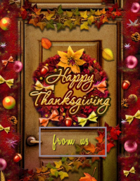 Happy Thanksgiving Flyer (US Letter) template