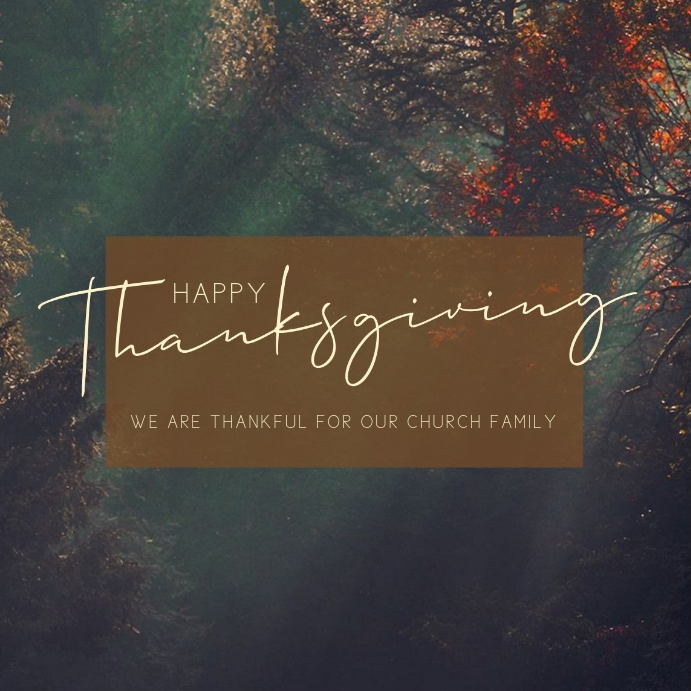 Happy Thanksgiving Instagram na Post template