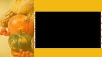 Happy thanksgiving Видеообложка профиля Facebook (16:9) template