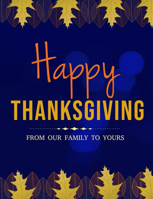 happy thanksgiving Pamflet (Letter AS) template