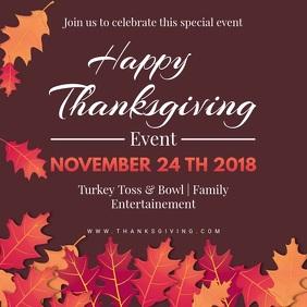 Happy Thanksgiving Dinner Video Ad