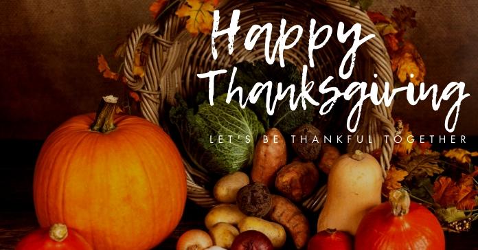 happy thanksgiving facebook advertisement template