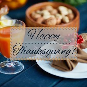 Happy Thanksgiving Instagram post