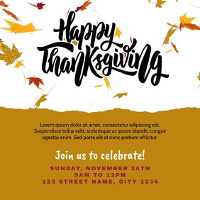 Happy Thanksgiving Instagram Post Invitation