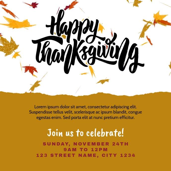 Happy Thanksgiving Instagram Post Invitation