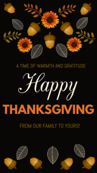 happy thanksgiving instagram story Instagram-verhaal template