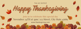 Happy Thanksgiving Party Invitation Facebook Cover