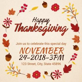 Happy Thanksgiving Party Invitation Video Advert