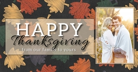 happy thanksgiving postcard TEMPLATE Facebook Shared Image